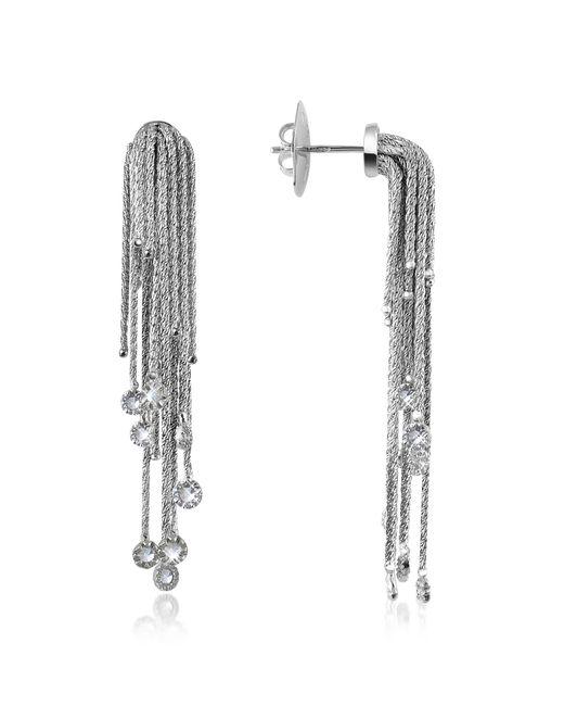 Orlando Orlandini | Flirt - Diamond Drops 18k White Gold Earrings | Lyst