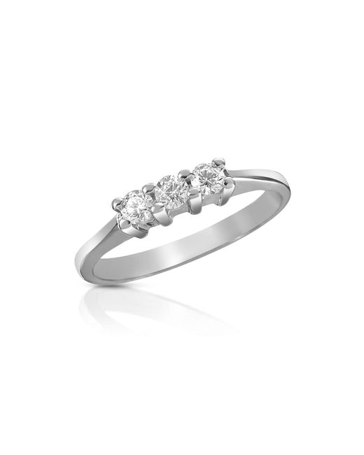 Forzieri | Multicolor 0.10 Ct Three-stone Diamond 18k Gold Ring | Lyst
