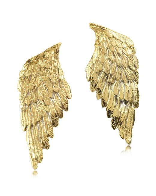Bernard Delettrez | Metallic Bronze Wings Earrings | Lyst