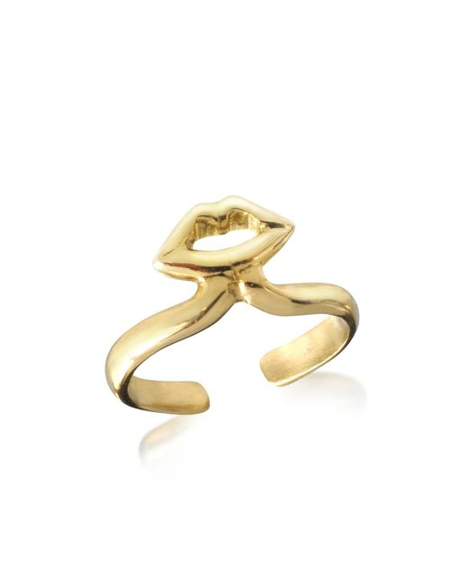 Bernard Delettrez | Metallic Bronze Midi Ring W/mouth | Lyst