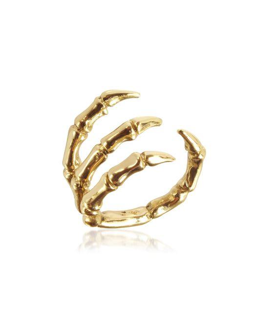Bernard Delettrez | Metallic Golden Brid Claw Bronze Ring | Lyst