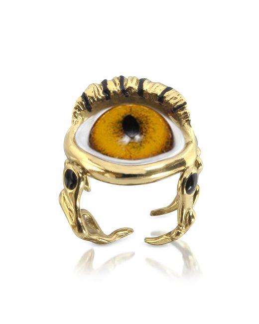 Bernard Delettrez | Metallic Bronze Eye Ring | Lyst