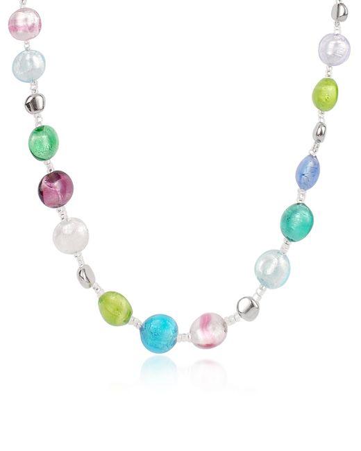 Antica Murrina - Blue Frida - Murano Glass Bead Necklace - Lyst