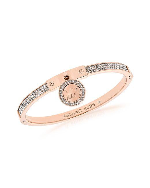 Michael Kors - Pink Heritage Pvd Rose Goldtone Stainless Steel Bracelet - Lyst
