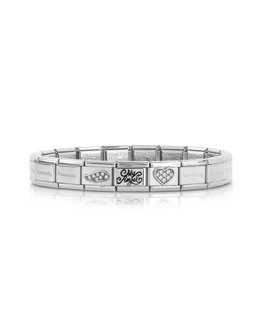 Nomination - Metallic Classic My Angel Stainless Steel Women's Bracelet W/cubic Zirconia - Lyst