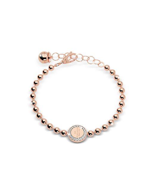 Rebecca - Pink Boulevard Stone Rose Gold Over Bronze Bracelet W/stones - Lyst