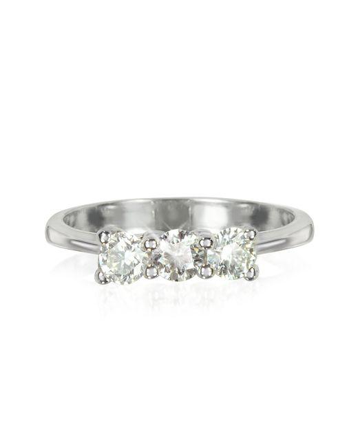 Forzieri - 0.63 Ctw Diamond 18k White Gold Trilogy Vanity Ring - Lyst