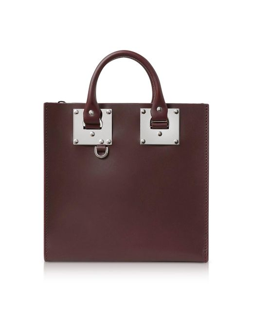 Sophie Hulme - Multicolor Oxblood Saddle Leather Square Albion Tote - Lyst
