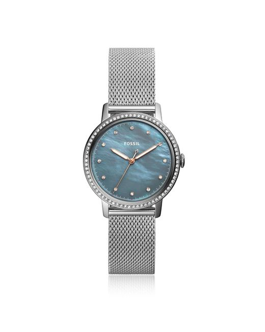 Fossil - Metallic Neely Three Hand Stainless Steel Crystal Women's Watch - Lyst