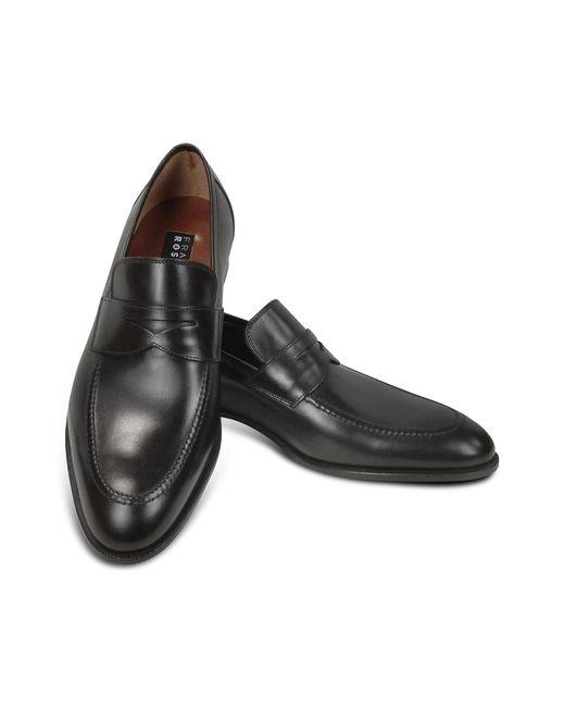 Fratelli Rossetti Penny Loafer Schuhe aus schwarzem Leder in Black für Herren