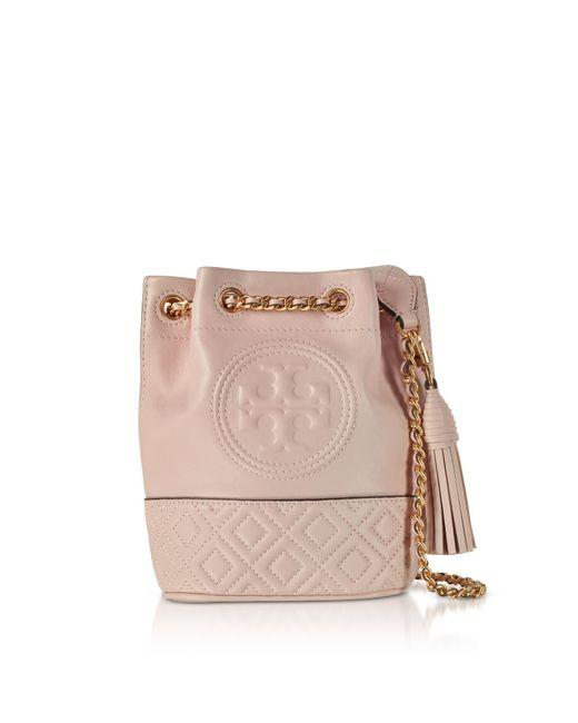 Tory Burch - Pink Fleming Mini Bucket Bag - Lyst