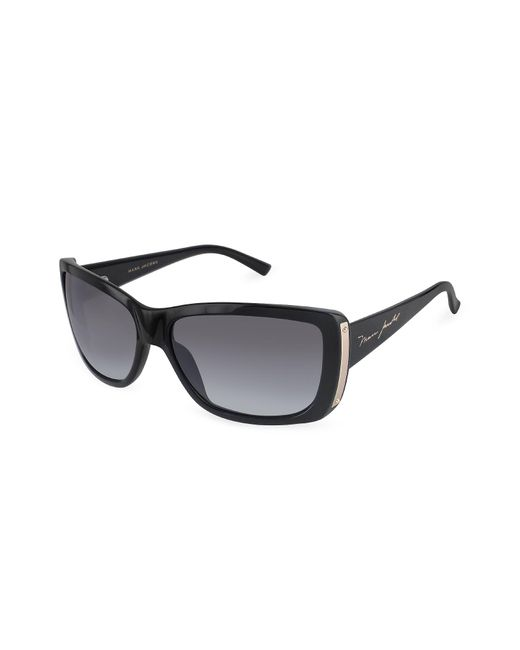 Marc Jacobs - Black Plastic Rectangular Signature Temple Sunglasses - Lyst