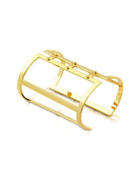 Pluma - Metallic Brass Open Viti Cuff In Fumoso - Lyst