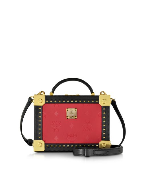 Mcm berlin ruby red small crossbody bag in red lyst for Ruby berlin