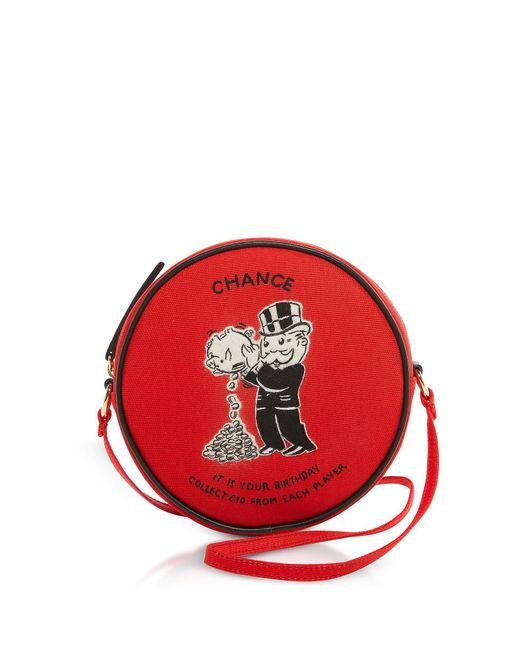 Olympia Le-Tan - Red Cotton And Wool Chance Dizzie Bag - Lyst
