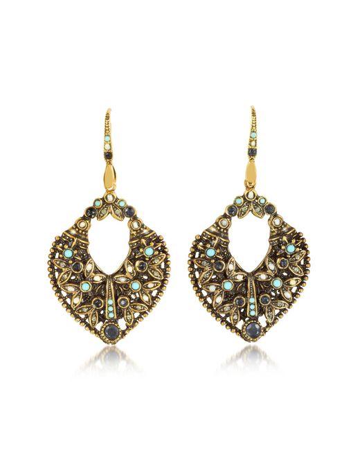 Alcozer & J - Metallic Arabesque Earrings W/crystals - Lyst