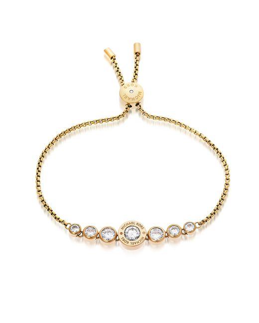 Michael Kors | Metallic Brilliance Goldtone Bracelet W/crystals | Lyst
