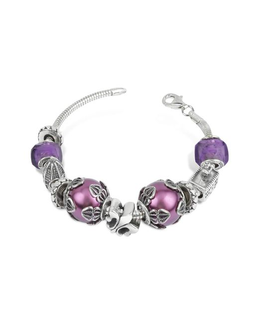 Tedora - Metallic Sterling Silver Florence Bracelet - Lyst
