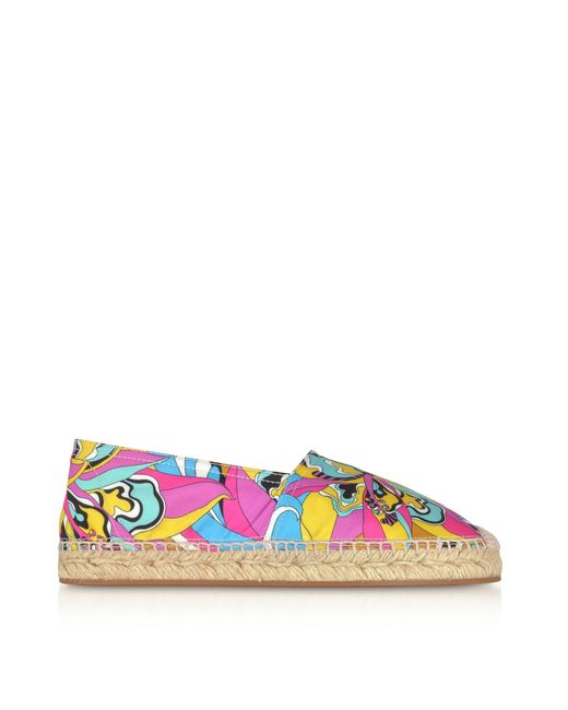 Multicolor Printed Canvas Espadrilles Emilio Pucci