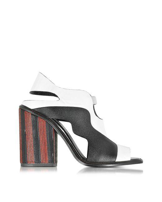 Proenza Schouler | Black Color Block High Heel Sandal | Lyst