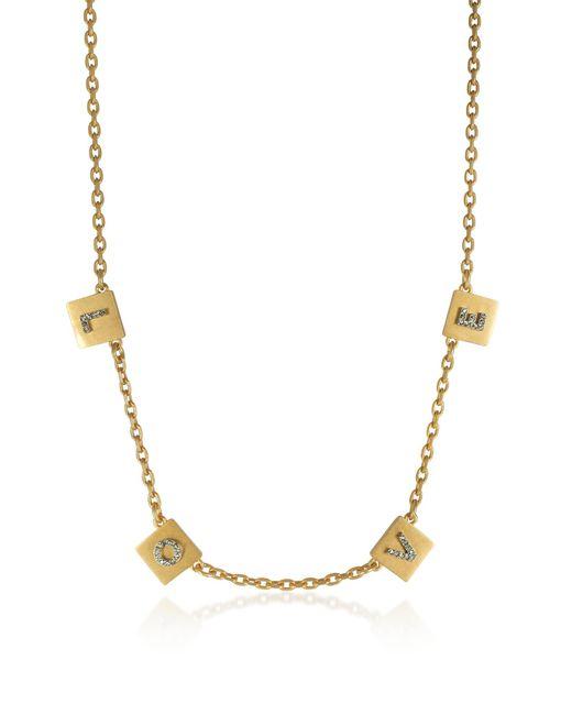 Tory Burch - Metallic Love Message Delicate Choker Necklace - Lyst