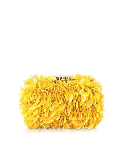 Corto Moltedo | Susan C Star Yellow Explosion Nappa Leather Pochette W/chain Strap | Lyst