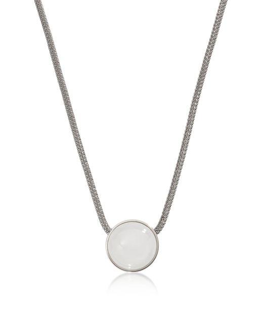 Skagen - Metallic Sea Glass Silver Tone Women's Necklace - Lyst