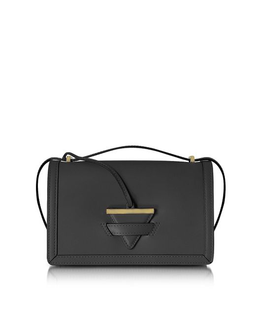 Le Parmentier - Black Diodora Shoulder Bag W/triangle Charm - Lyst