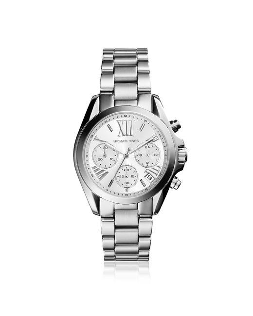 Michael Kors - Metallic Mini Bradshaw Silver-tone Watch - Lyst