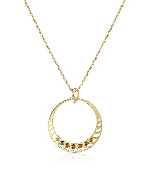 Sho London - Metallic Silver Vermeil Pendant Necklace - Lyst
