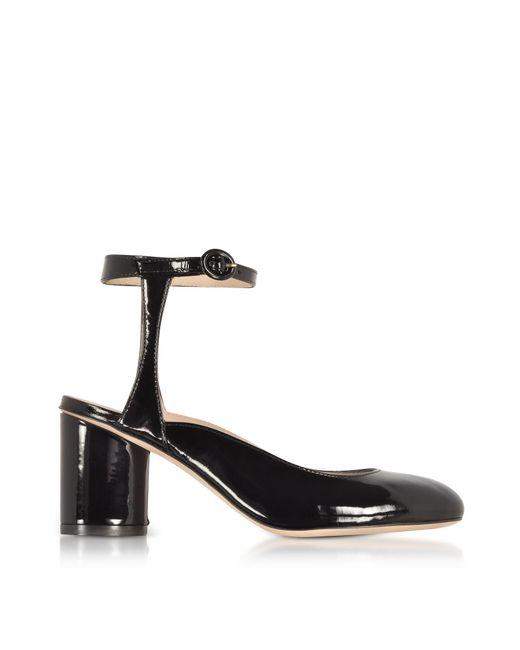 Stuart Weitzman - Shape Black Patent Leather Heel Pumps - Lyst