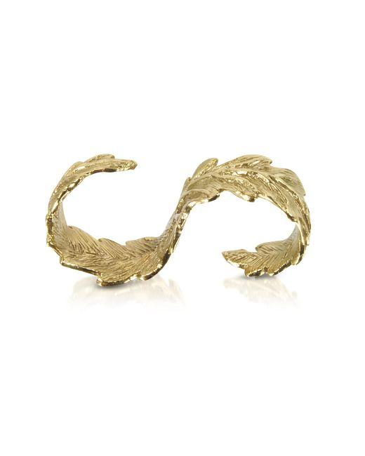Bernard Delettrez - Metallic Two Fingers Bronze Leafy Ring - Lyst