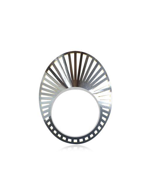 Vojd Studios Black Silver Steel Ring