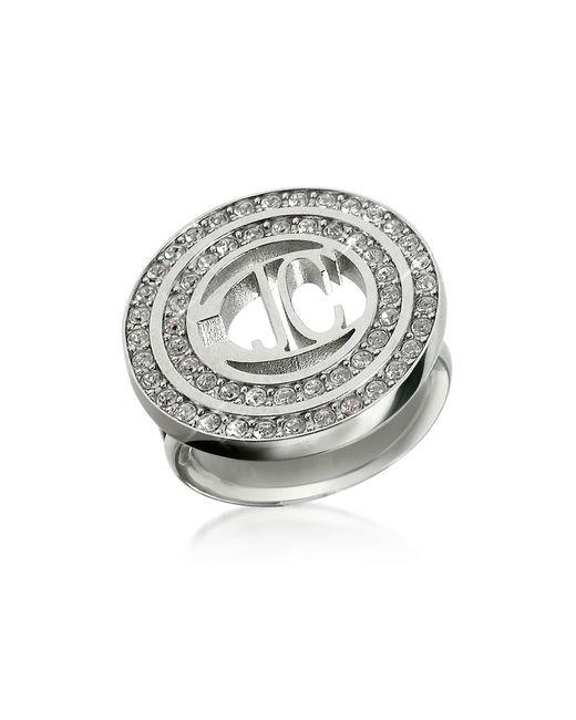 Just Cavalli - Metallic Rolly - Crystal Logo Ring - Lyst
