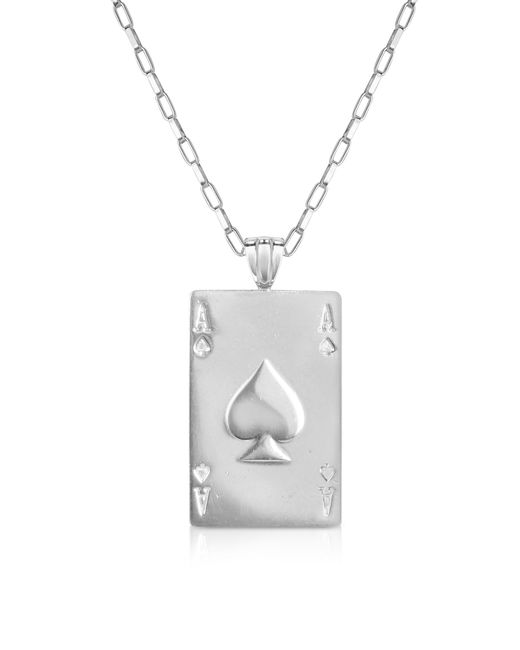 Sho London | Metallic Sterling Silver Ace Of Spades Necklace | Lyst