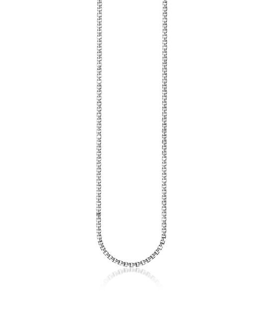 Thomas Sabo - Metallic Blackened Sterling Silver Venezia Chain Necklace - Lyst