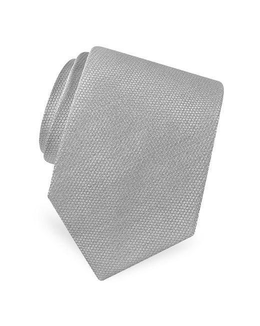 FORZIERI | Metallic Gold Line Solid Classic Woven Silk Tie for Men | Lyst