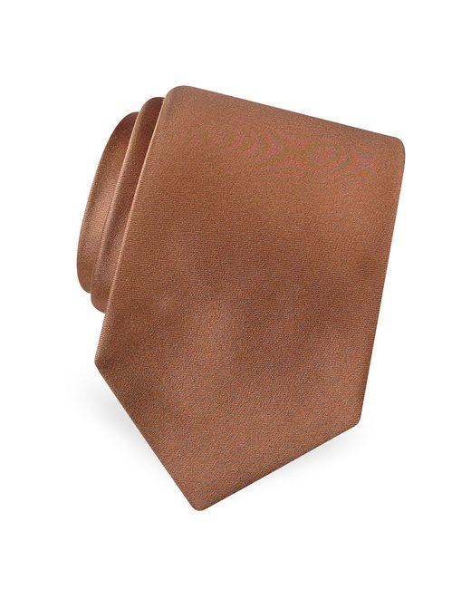 FORZIERI | Brown Solid Pure Silk Satin Silk Tie for Men | Lyst