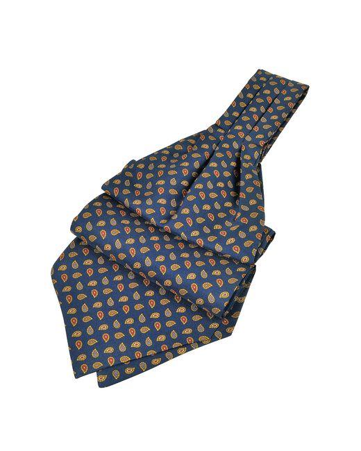 FORZIERI | Blue Mini Paisley Print Silk Ascot for Men | Lyst