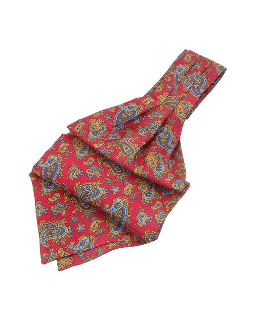 FORZIERI | Red Paisley Print Twill Silk Ascot for Men | Lyst