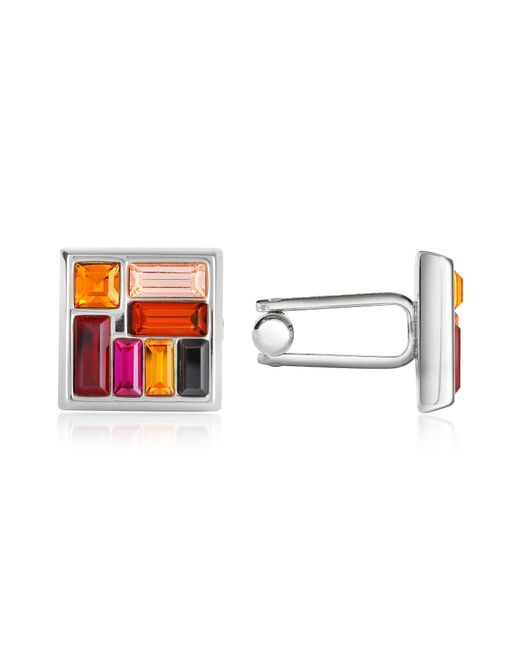 FORZIERI | Multicolor Crystal Silver Plated Cufflinks for Men | Lyst