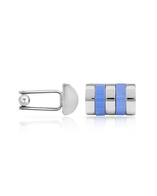 FORZIERI | Sky Blue Bands Silver Plated Cuff Links for Men | Lyst
