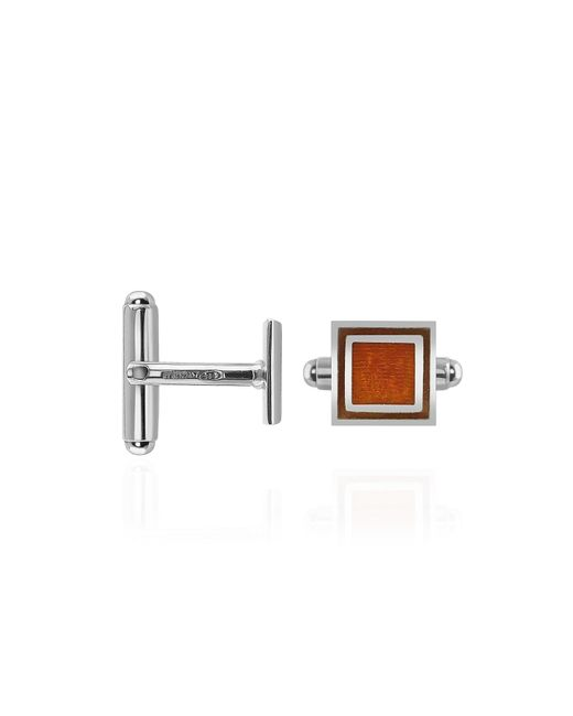 FORZIERI | Brown Sterling Silver Square Cuff Links for Men | Lyst