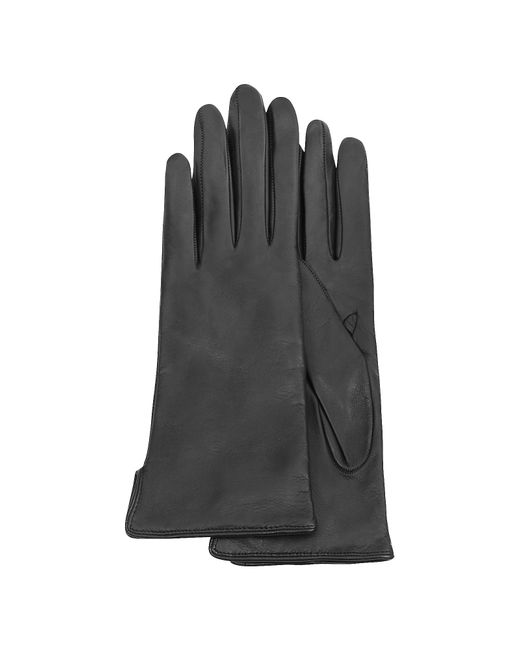 FORZIERI | Women's Black Cashmere Lined Italian Leather Gloves | Lyst