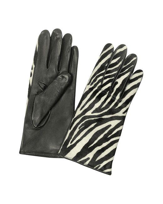 FORZIERI | Multicolor Women's Zebra Pony Hair And Italian Nappa Leather Gloves | Lyst