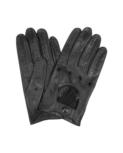 FORZIERI | Men's Black Italian Leather Driving Gloves for Men | Lyst