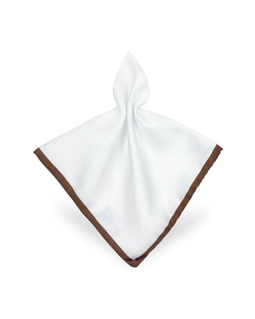 FORZIERI | Framed Solid White Silk Pocket Square for Men | Lyst