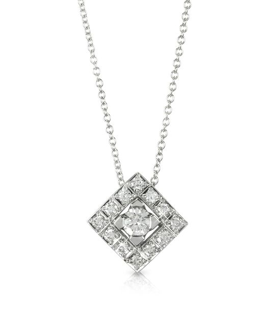 FORZIERI | 0.45 Ctw Diamond 18k White Gold Pendant Necklace | Lyst