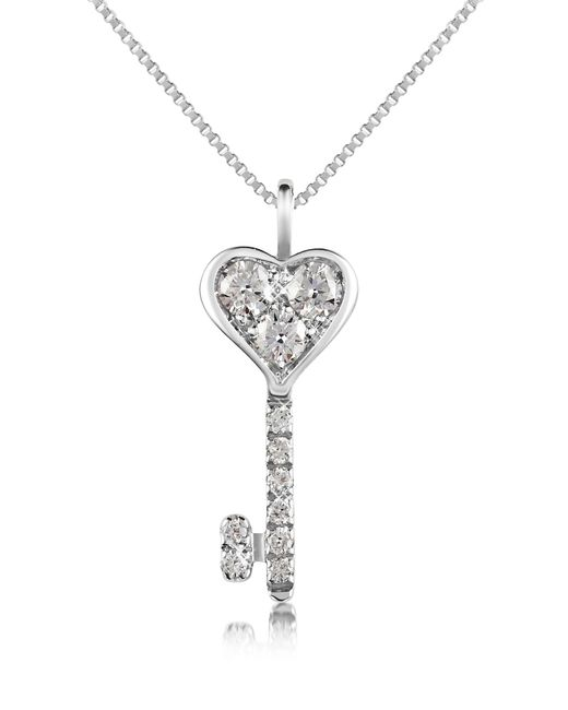 FORZIERI | White 0.41 Ct Diamond Key Pendant Necklace | Lyst