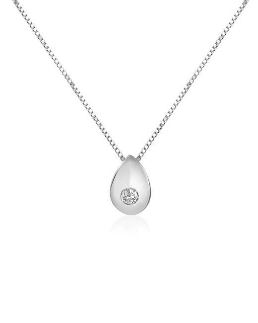 Forzieri | Metallic 0.02 Ct Diamond Drop 18k Gold Necklace | Lyst